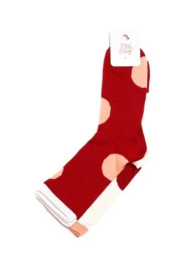 Pink&Orange Soket Çorap Bordo